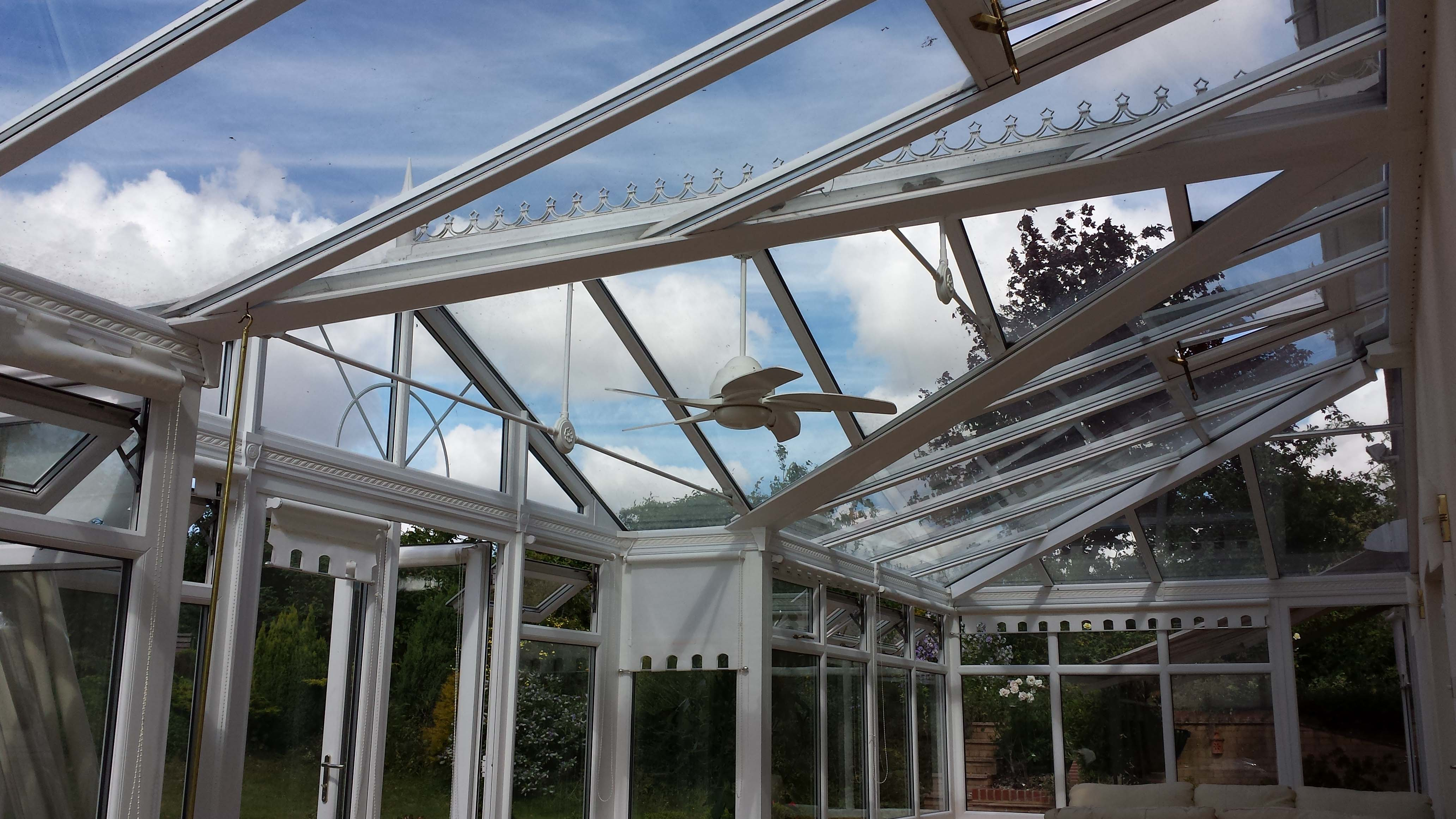 how to clean conservatory roof blinds
