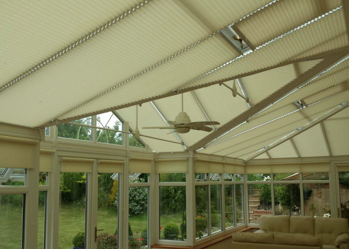 John Chamberlain – Hertfordshire – Pleated Roof Blinds / Side Roller Blinds
