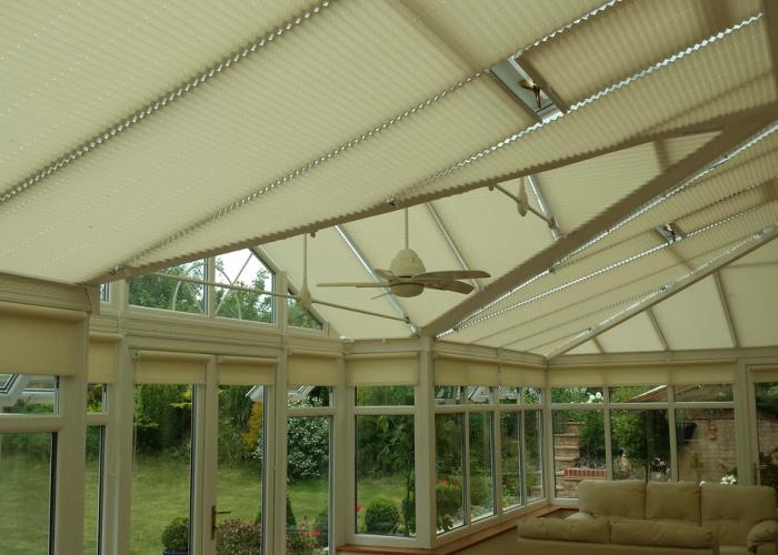 John Chamberlain – Hertfordshire – Pleated Roof Blinds / Side Roller Blinds