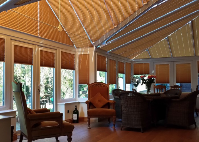 Carol Paton – Camberley, Surrey – Pleated Roof Blinds / Perfect Fit Pleated Side Blinds
