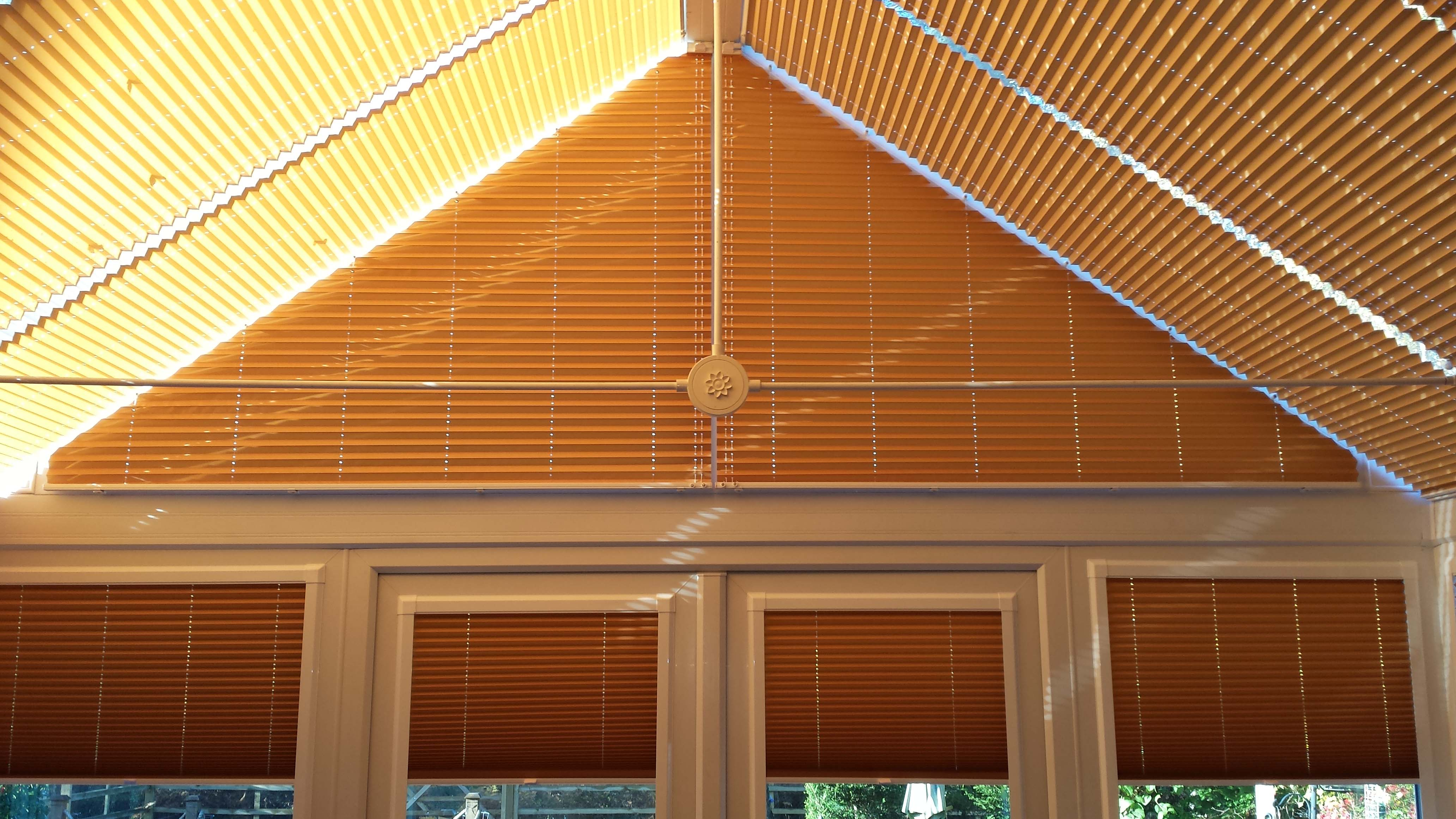 Carol Paton Camberley Surrey Pleated Roof Blinds